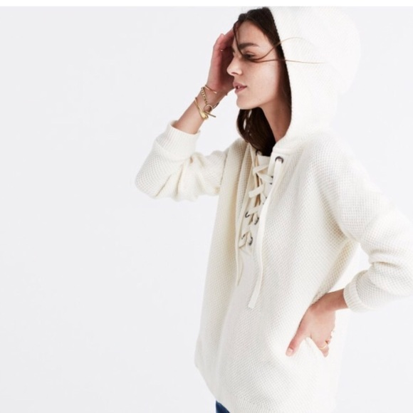 Madewell Sweaters - Madewell Lace Up Hoodie